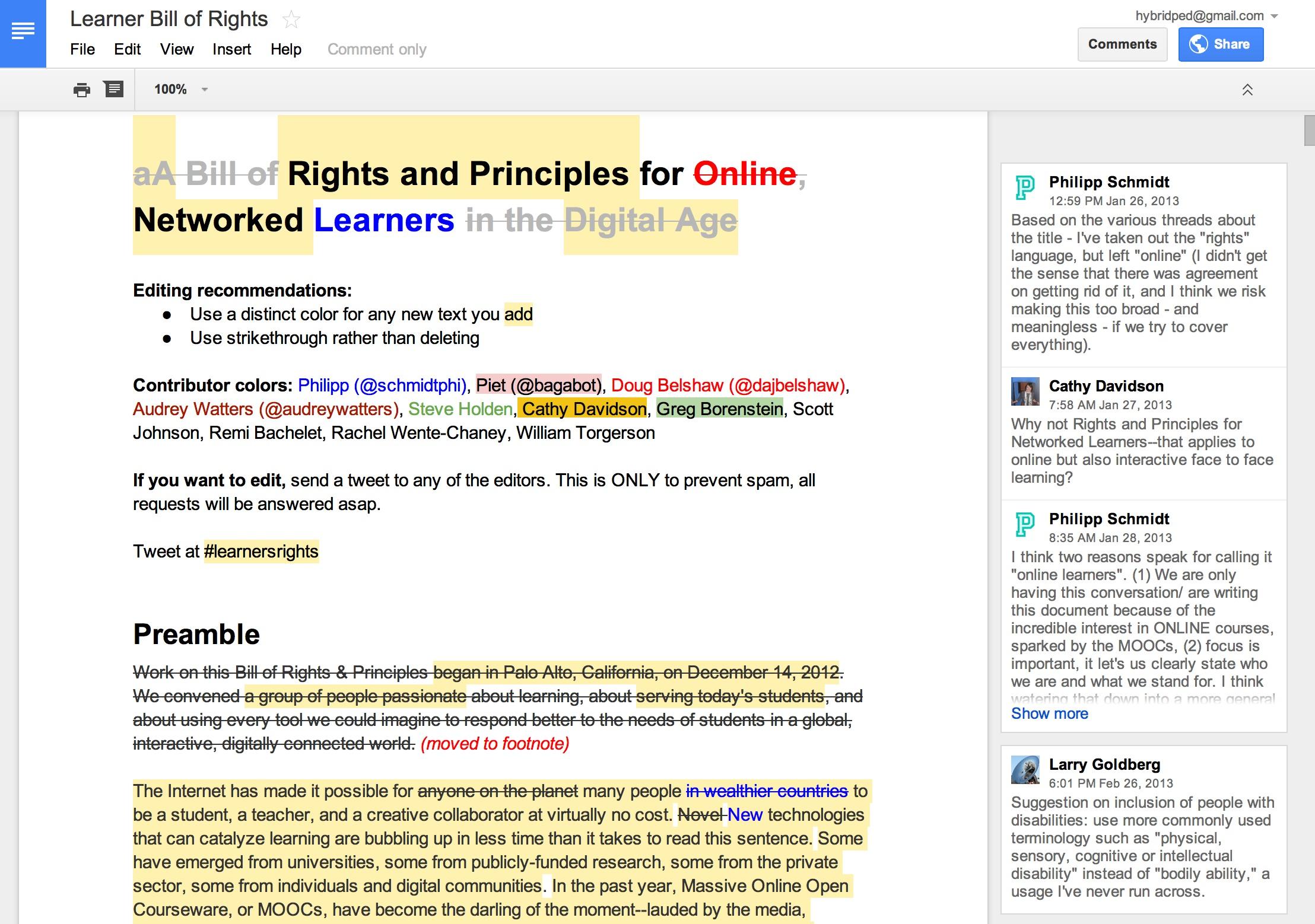 Editors Choice Collaborative And Public Writing Techniques For - Public google docs