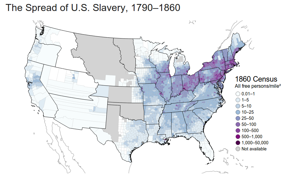 Editors\' Choice: Mapping the Spread of American Slavery