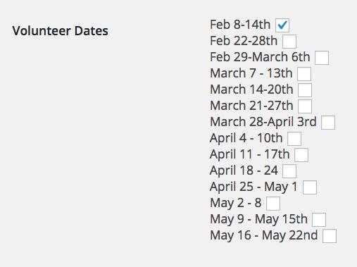 Screenshot, user schedule