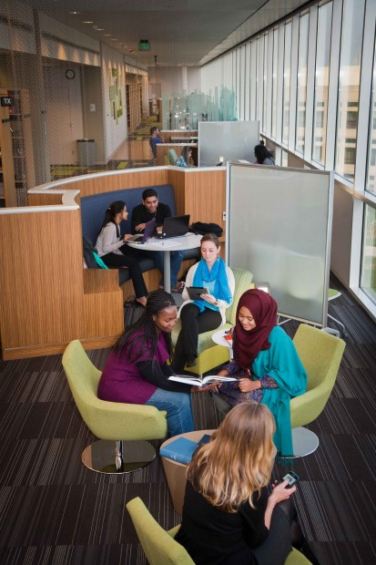A picture of a learning space at IUPUI.