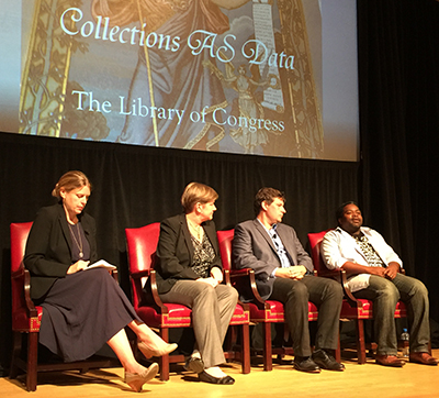 Photo of a panel from the conference.