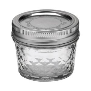 A glass jar.