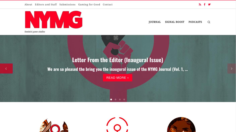 Screenshot of NYMG Journal homepage