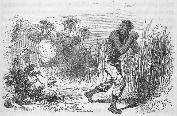 """Slave-owner shooting a fugitive slave"" (Schomburg Center for Research in Black Culture)."