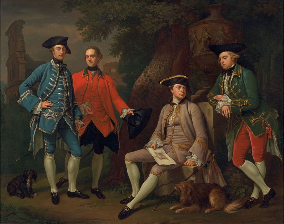 Portrait of James Grant of Grant, John Mytton, the Honorable Thomas Robinson, and Thomas Wynne.