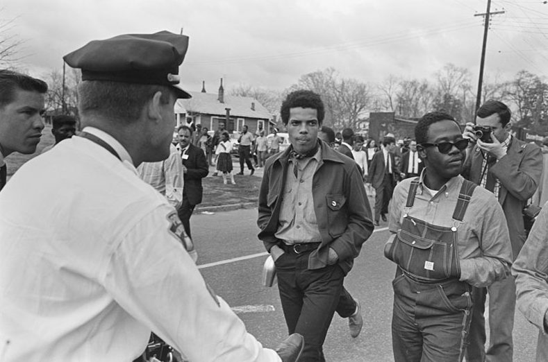 SNCC protesters march in Montgomery, 1965