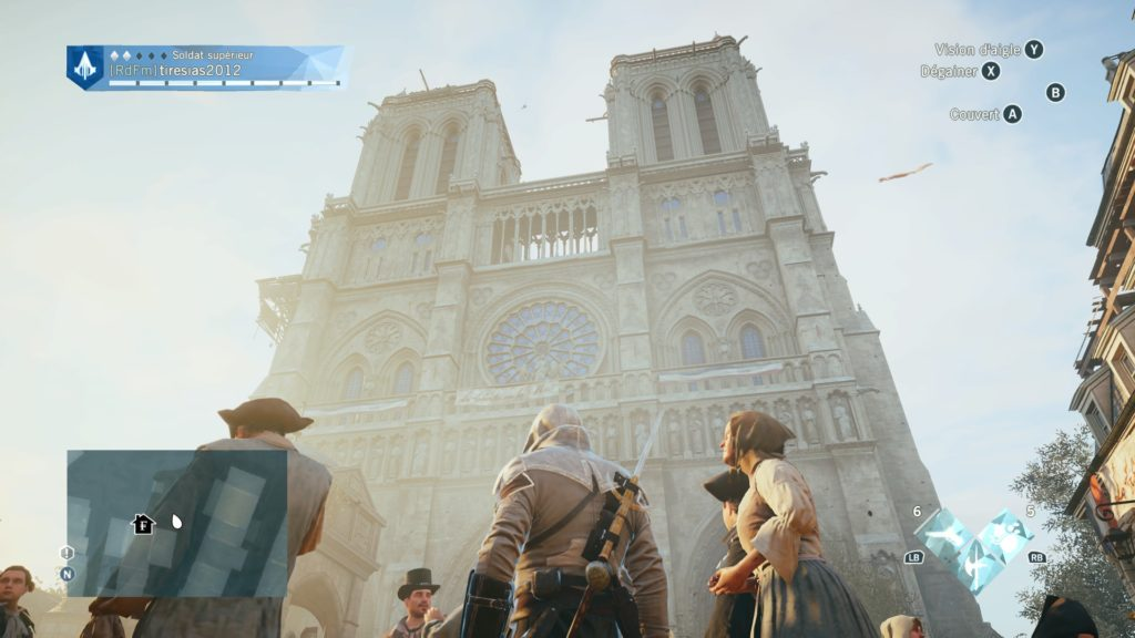 Screenshot of Notre Dame cathedral in Assassin's Creed