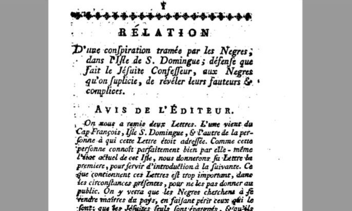 Image of text in French