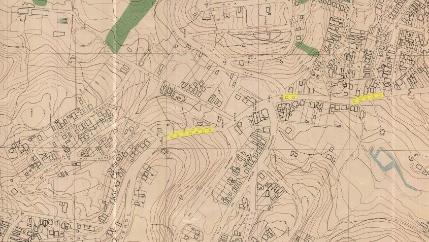 Estrada do Congo from 1954 map