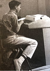 student at teletype